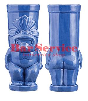 "Стакан д/коктейлей ""Тики"";керамика 450мл,  голуб. в Саратове"
