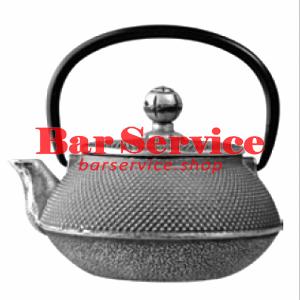 Чайник с ситечком; чугун; 650мл; D=8.7,H=9.4,L=14.5см черный в Саратове