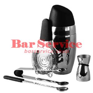 Набор барменский 5 предметов, черный  в Саратове